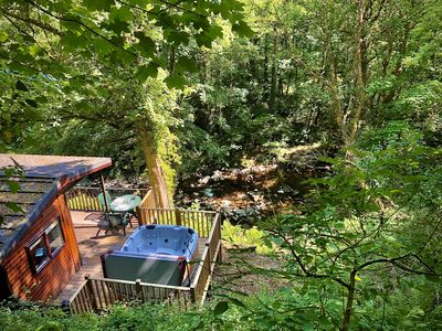 Photo for Riverside Hideaway - Riverside Lodge with Hot Tub