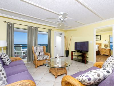 Photo for Saida IV 901 - Corner Beachfront Condo with Exquisite Ocean Views from inside the Condo and Private Balcony, Small Dogs Welcomed