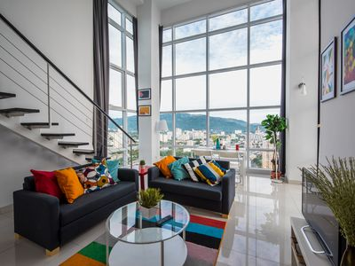 Photo for A modern duplex suite with 2 br located in Georgetown with panoramic city view