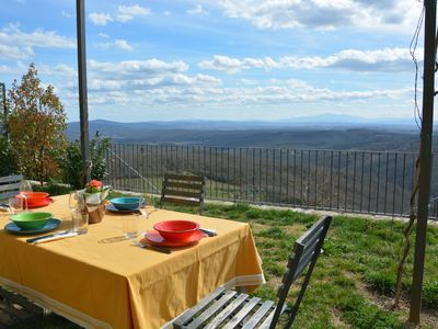 Photo for GREAT APARTMENT WITH GARDEN AND STUNNING VIEW ABOVE THE CHIANTI REGION