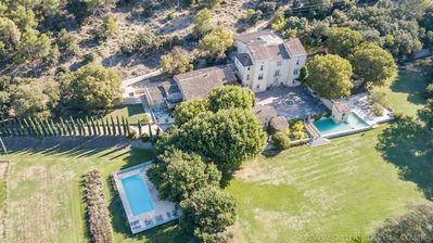 Photo for Pool & Tennis Court - Charming Houses in Grounds of 16 century Chateau near Aix