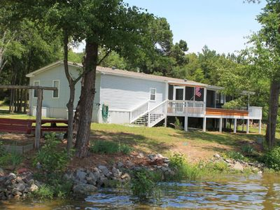 Photo for NEW LISTING! Lakefront home w/ 200 feet of waterfront, dock, private boat ramp