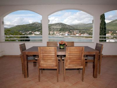 Photo for Two bedroom apartment near beach Seget Vranjica, Trogir (A-13771-a)