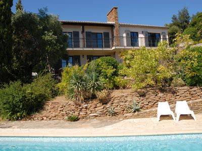 Photo for 8p Villa with pool, facing south, sea and mountains, 10 minutes from the beach