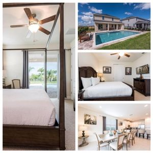 Photo for Luxury 8BR House with private pool and spa. Close to Disney -201 F
