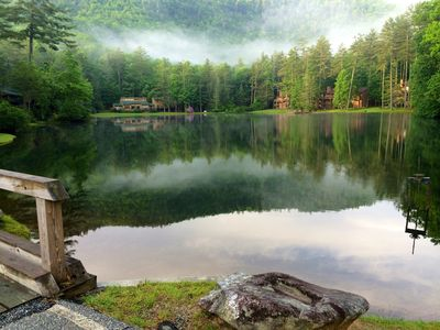 Photo for Mountain views, lakes, waterfalls, hiking, canoeing. Pets Welcomed!