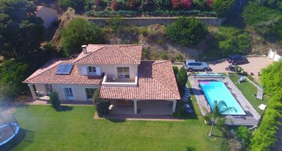 Photo for Luxury villa, pool, sea view, located 10 minutes from Ajaccio town and beach
