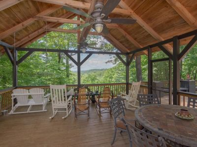Photo for Large Deck, Backyard is DuPont Forest
