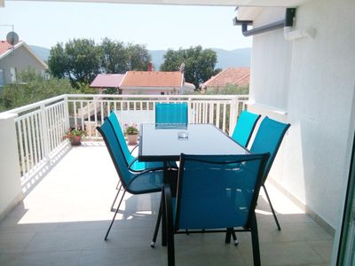 Photo for Two bedroom apartment with terrace and sea view Viganj (Pelješac)