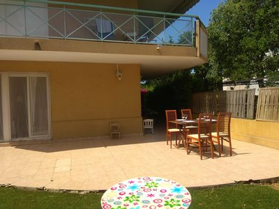 Photo for 100 from the beach, 100sqm private garden, 1km  from old town