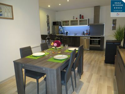 Photo for Annecy center 70 m2 new, modern and quiet, private parking classified 4 ****