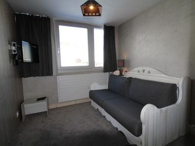 Photo for Surface area : about 16 m². 9th floor. Orientation : North. Living room with bed-settee