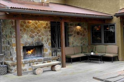 Sit by the fire and enjoy the cool mountain evenings and the starry skies!