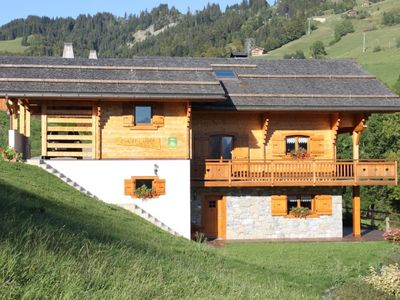 Photo for Gite in Savoyard chalet overlooking the chain of Aravis. wifi