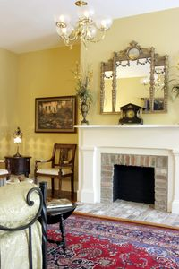 Elegantly designed Living Area at Historic Washington Square Hou