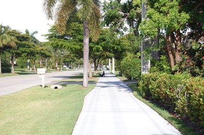 Beautiful wide sidewalks leading you to the beach, shopping and dining!