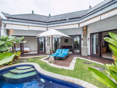 Photo for Joy Villa, 2 bedrooms, A/C living area, private gated compound, near Seminyak