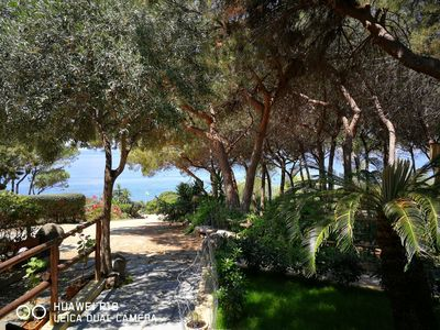 Photo for 360 ° of total relaxation in a small paradise overlooking the Gulf of Cagliari