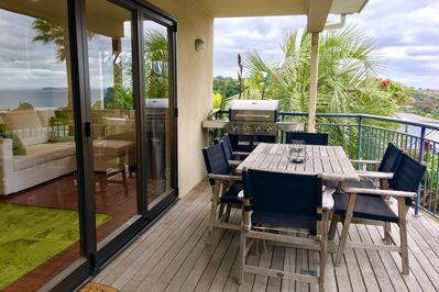 BBQ AND DINING ON YOUR COVERED DECK, WITH SEA VIEW