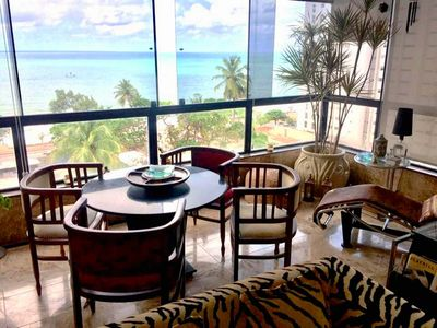 Photo for Ocean front Apt 220m² with Amazing Sea View - Recife