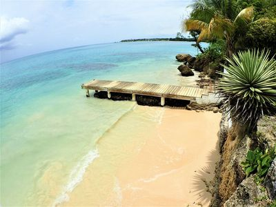 Photo for BEACHFRONT VILLA, FULLY STAFFED IN JAMAICA! Culloden Cove,South Coast 2BR
