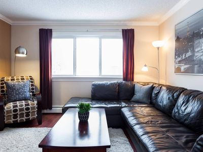 Photo for Luxurious Cozy 1 Bedroom/1 Bathroom Whyte Ave Condo-Free Covered Parking!