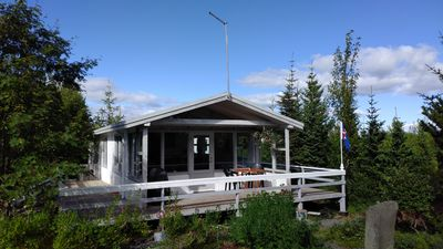 Photo for A Beautiful Golden Circle cottage, paradise in the south Iceland, hot tub, wi-fi