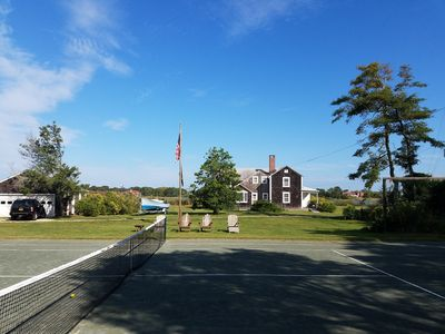 Photo for Westhampton quintessential waterfront 2 acres w/ tennis, dock.