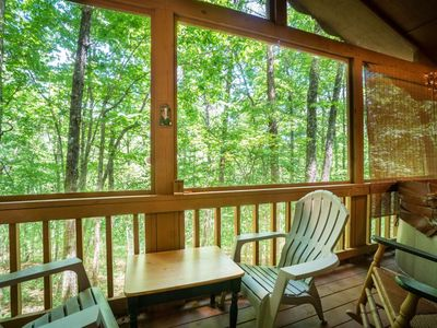 Photo for This lovely cabin is nestled in the Sautee Woods Area, only minutes from Helen and Unicoi State Park