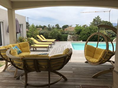 Photo for Heated pool - Beaches 2 min - 5 bedrooms - Clim Wifi