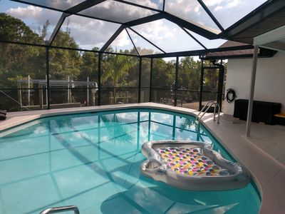 Photo for Vacation paradise awaits you in this canal home with heated in ground pool!