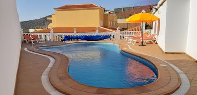 Photo for Tranquil family villa with independent pool and sea views,