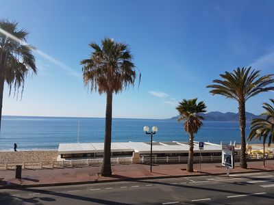 Photo for Beachfront apartment, 2 bedrooms, 2 bathrooms , AC, free Wi-Fi and parking.