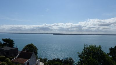 Photo for Sea view cottage on the Bay of Saint Brieuc, access GR34, 10 min walk from the beach