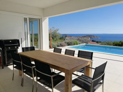 Photo for Large 5 * Captain's Villa Seadream, 200m from the sea, priv. Pools, nice garden