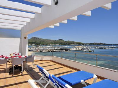 Photo for Beautiful and modern apartment with spectacular views to bay of Puerto Pollensa