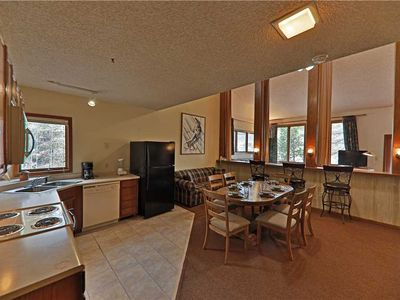 Photo for Tranquil ski-in/ski-out condo with private indoor hot tub and roomy loft, sleeps 9