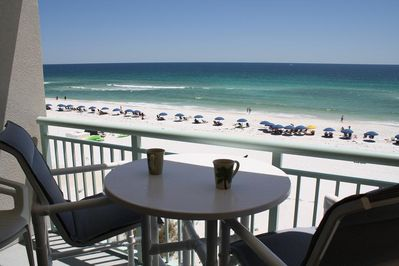 Balcony views  - Enjoy a nice cup of coffee in the morning or a sunset dinner at the patio table. How relaxing!
