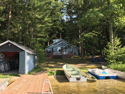 Photo for Spider Lake Beach Cottage. 80' private & level lake frontage. Peaceful setting.