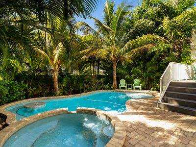 Photo for Gorgeous home w/ private heated pool, sun deck, & backyard