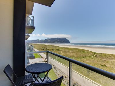 Photo for Oceanfront condo with gorgeous beach views, shared pool at Sand & Sea