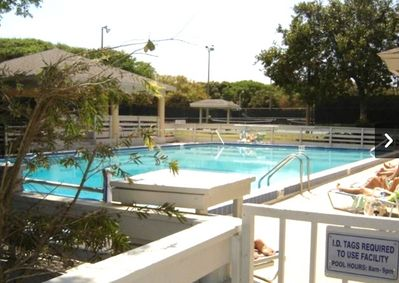 2 pools, tennis courts, shuffle board courts, sauna and gym