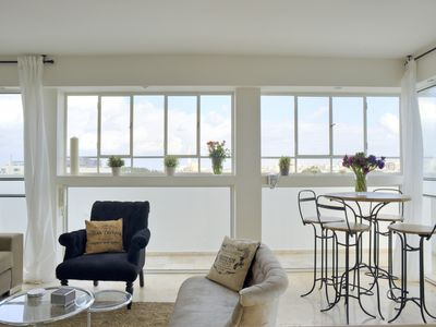 Photo for An amazing . duplex with stunning Tel Aviv view, close to the beach