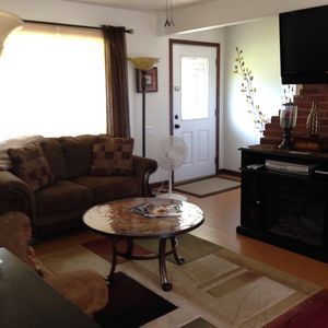 Electric Fireplace and Mounted TV, VCR, and DVD player