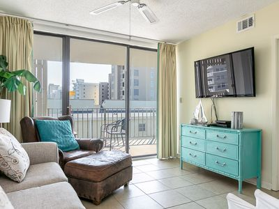 Photo for Beach-Front Condo overlooking the Pool & The Gulf, Private Balcony, Sleeps 8, Easy Beach Access!