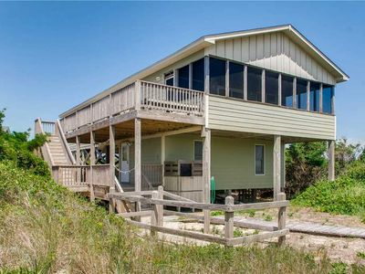 Photo for Enjoy Panoramic Ocean Views! Oceanfront Avon w/Easy Beach Access, Screened Porch