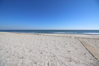 Our private beach walkway is on the right