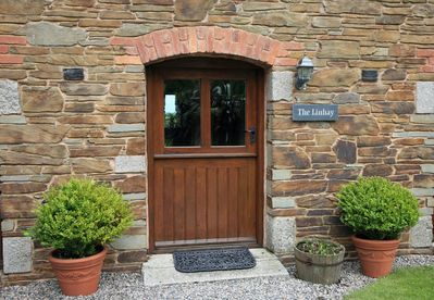 Courtyard entrance with  hand crafted stone from our own small quarry