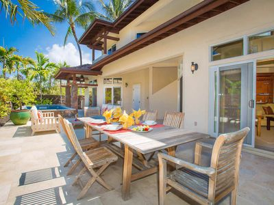 Photo for Luxurious Island House-Backyard Pool, Outdoor Shower, private beach access