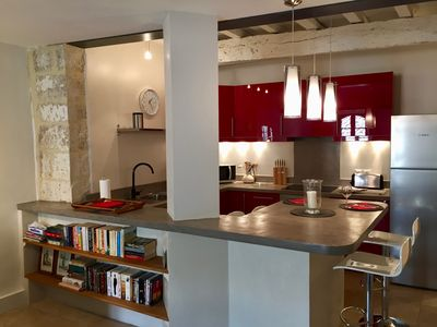 Photo for Stylish Uzes Centre Loft Style Apartment with a Large Terrace